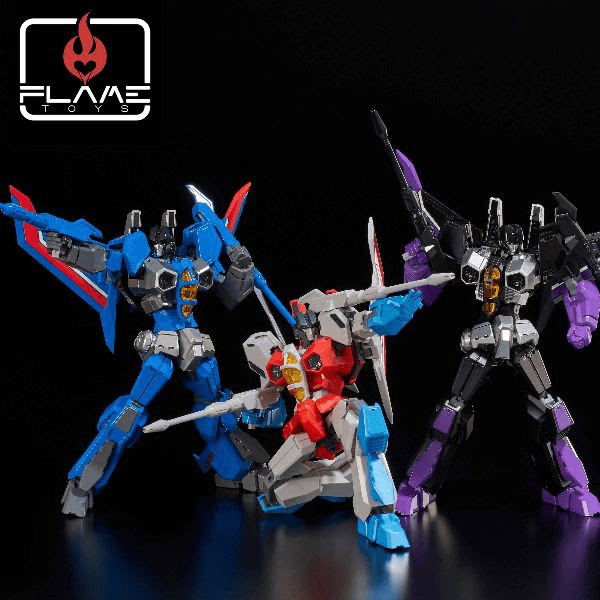 Enter to win a trio of Transformers Seeker models; Starscream, Skywarp and Thunder Cracker. Giveaway Image