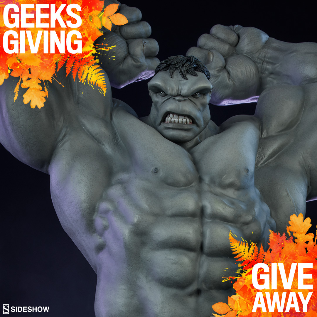 Grey Hulk Statue   some exclusions Giveaway Image