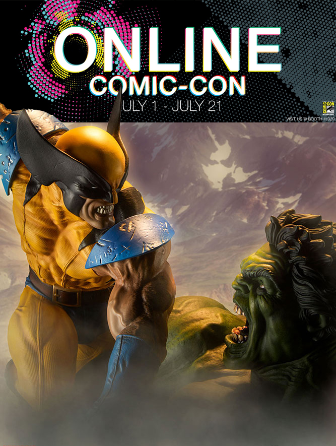 Online Comic-Con: Hulk and Wolverine Maquette Giveaway Image
