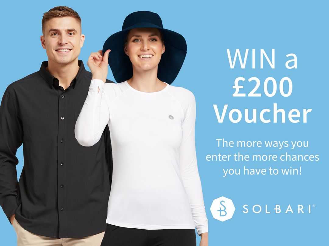 Enter for a chance to win a Solbari £200 Voucher to be used on Solbari Online Apparel and Accessories Store!  Shipping to over 100 Countries! Giveaway Image