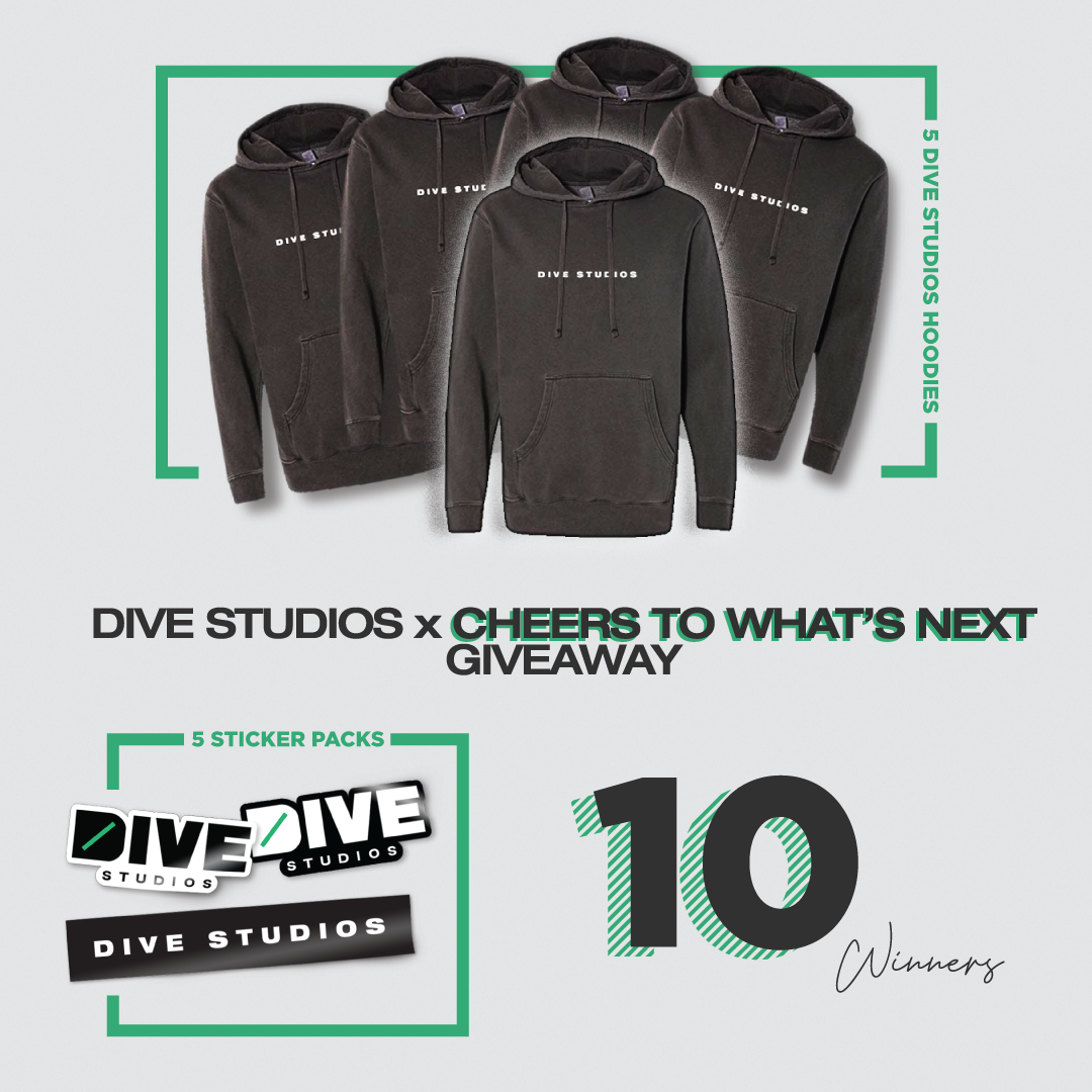 10 Winners. DIVE Studios Hoodies and Sticker Packs Giveaway! Giveaway Image