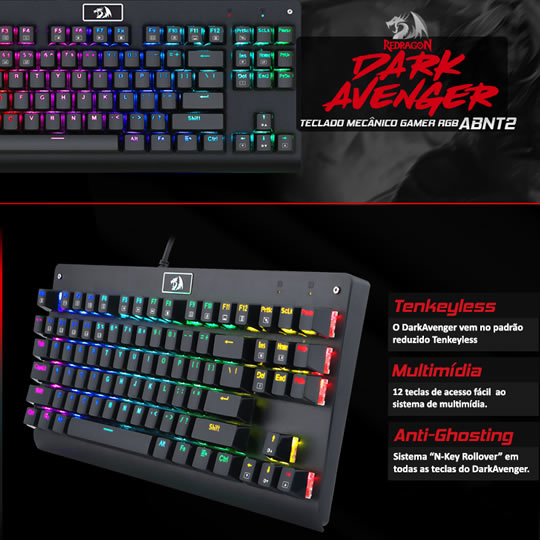 Enter for a chance to win a Redragon Dark Avenger K568 Mechanical Gaming Keyboard Giveaway Image