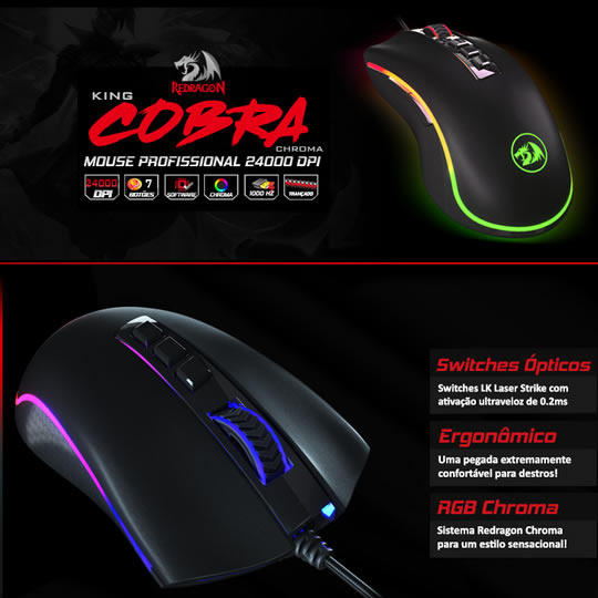 Enter for a chance to win a Redragon King Cobra Chroma M711-FPS Gaming Mouse Giveaway Image