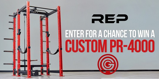 Enter to win a custom PR-4000 Weightlifting rack! Up to a $1,000 value and includes a $150 credit towards shipping. Giveaway Image