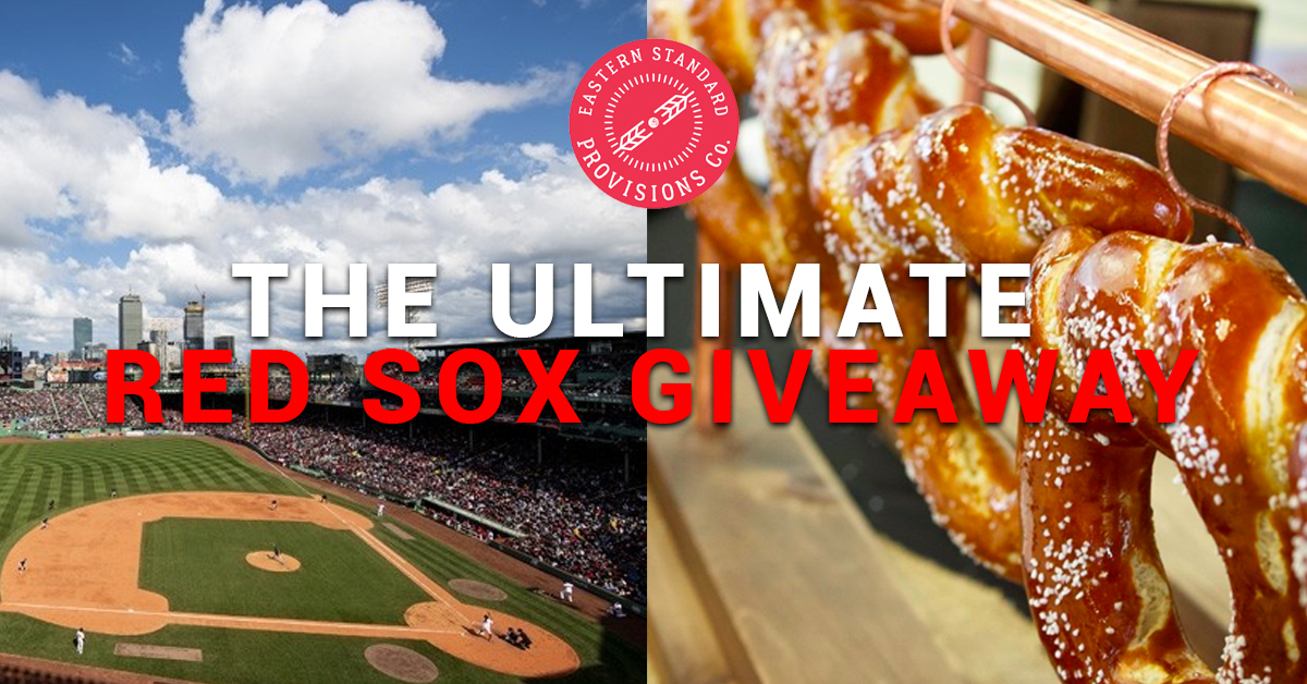 Red Sox Ultimate Pretzel Fan Giveaway! Win dinner, two tickets to a game, hotel, and much more!! Giveaway Image