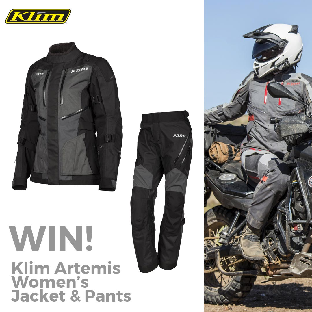 Win a Klim Artemis women's jacket and pants worth £1338! Giveaway Image