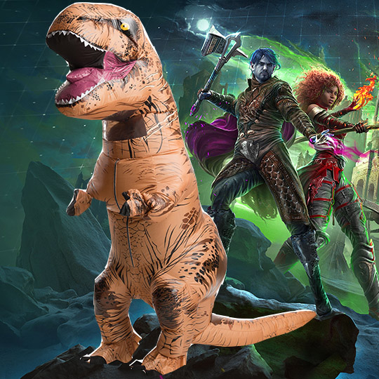 Win a GIANT Dinosaur Costume Giveaway Image