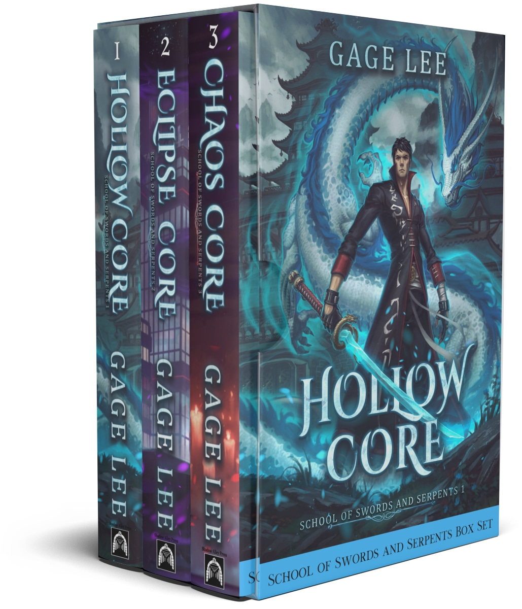 Enter to win an eBook Box Set of School of Swords and Serpents from the author Gage Lee. Each set is valued at $30 and consists of 6 eBooks. 10 Winners! Giveaway Image