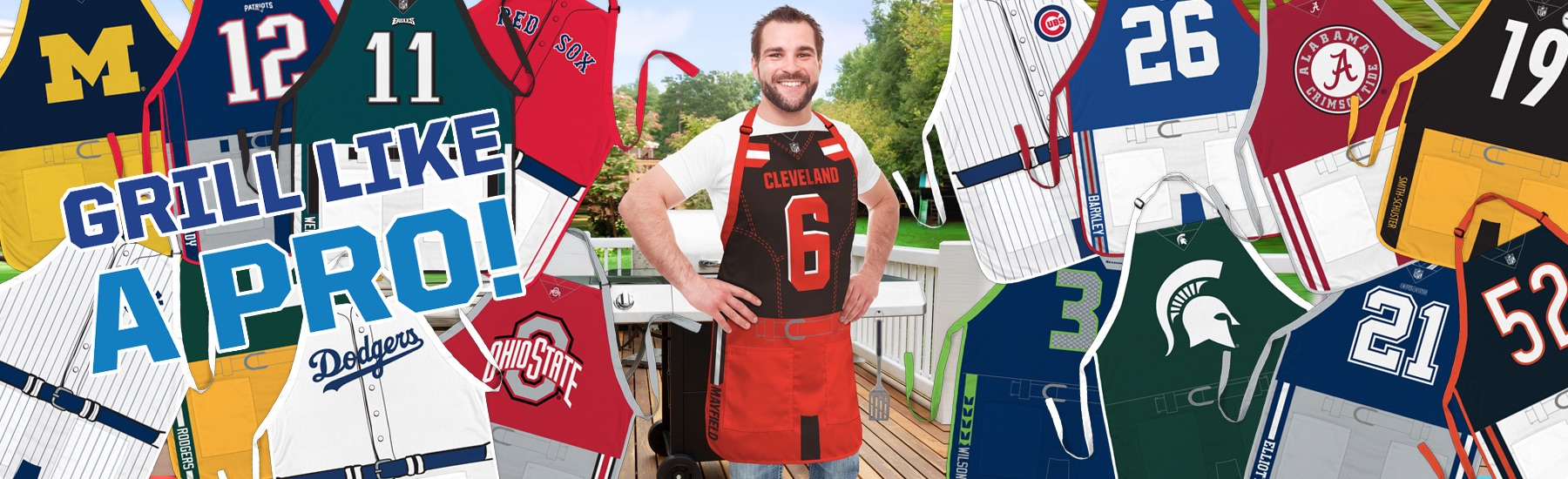 Party Animal NFL Jersey Apron