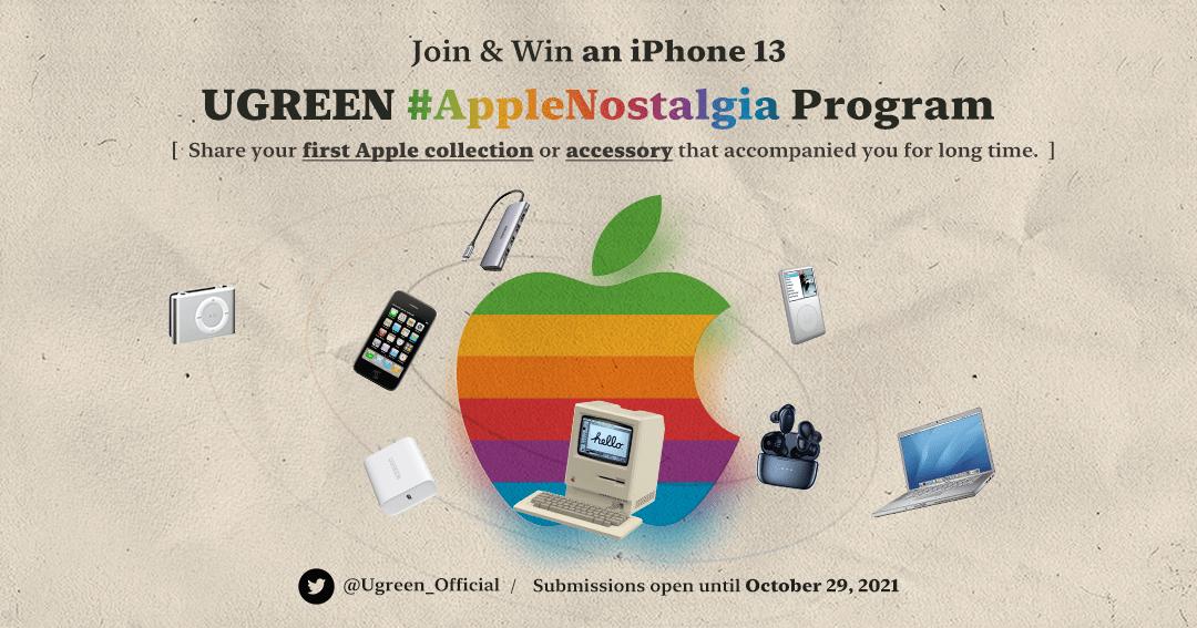 Win an iPhone13 with UGREEN #AppleNostalgia Program! Giveaway Image