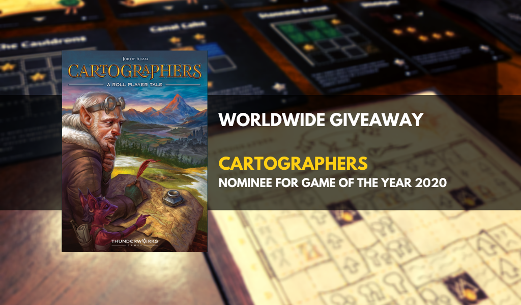 Win the board game Cartographers Giveaway Image