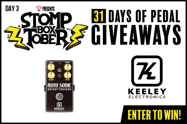 WIN a Keeley Electronics Roto Sonic Rotary Simulator Guitar Pedal Giveaway Image