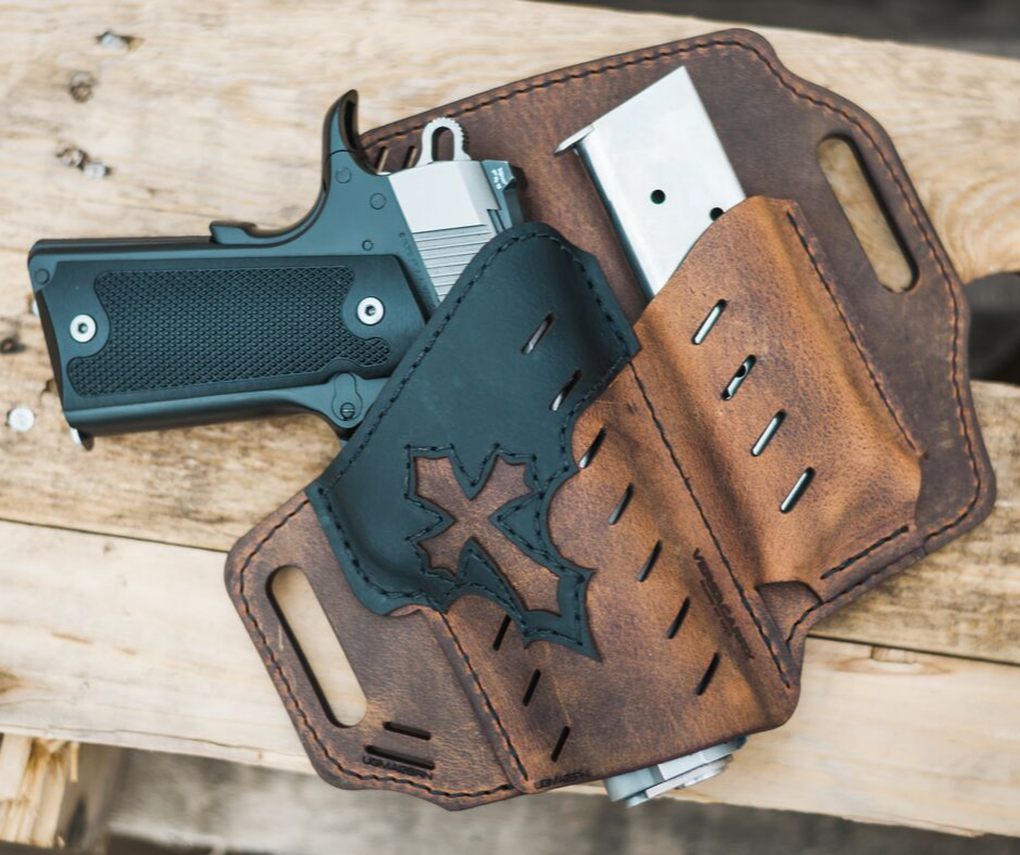 "Enter for a chance to win a Versacarry's Underground Premium ""Arc Angel"" Holster! Each is handcrafted in the USA using Premium Water Buffalo Leather! Giveaway Image"
