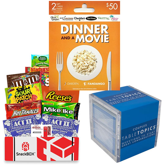 The Ultimate Date Night Giveaway including Fandango and Darden gift cards, movie snacks and more! Giveaway Image
