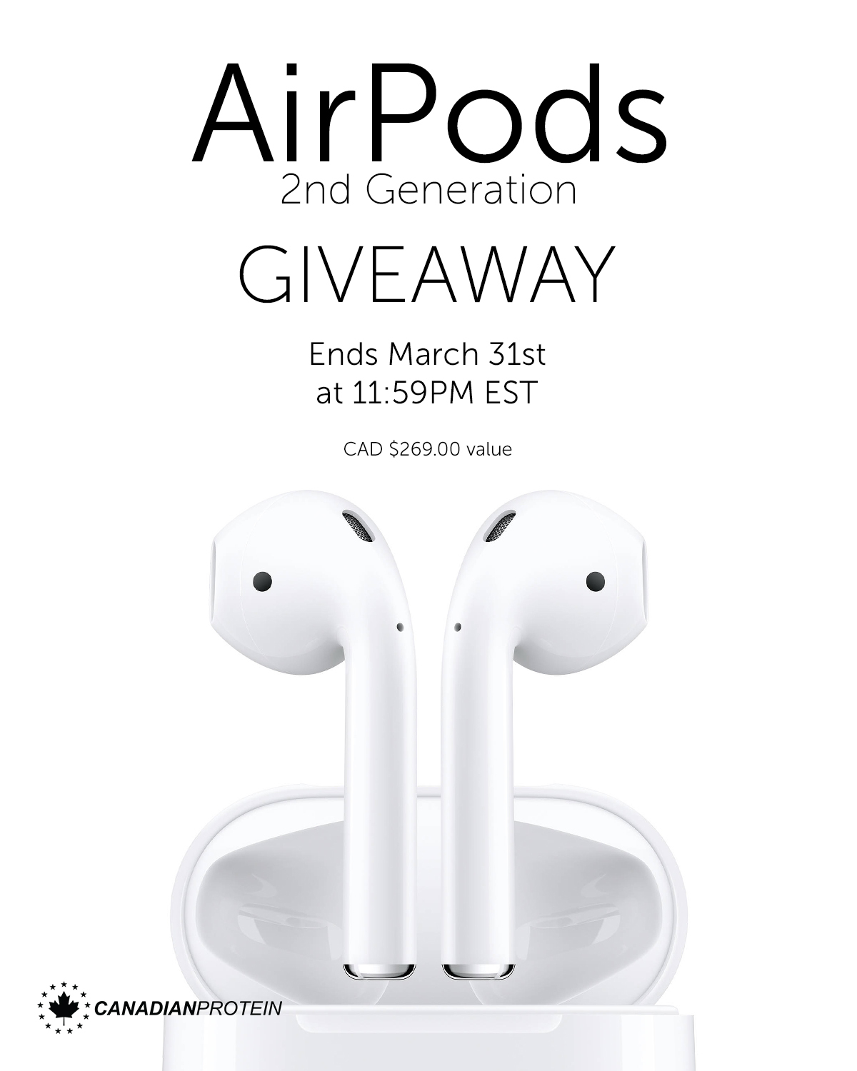 Airpods 2nd Generation Giveaway Giveaway Image