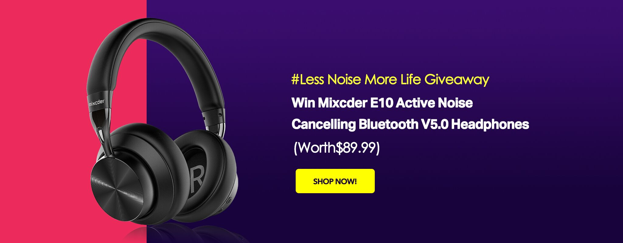 Win 1 of 5 Mixcder E10 Active Noise Cancelling Bluetooth V5.0 Headphones (Worth $89.99) Giveaway Image