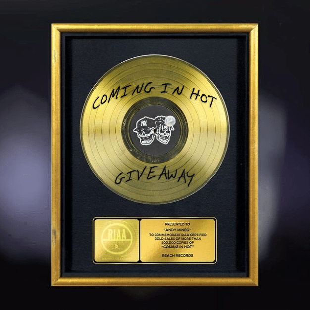Win a Lecrae Gold Record plaque or Coming in Hot merch bundle Giveaway Image