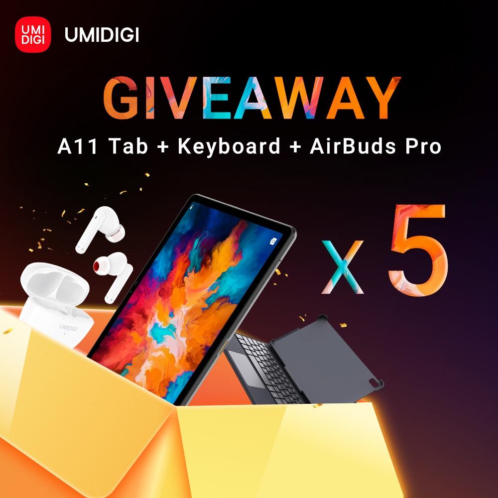 UMIDIGI A11 Tab +Keyboard +AirBuds Pro Giveaway Image