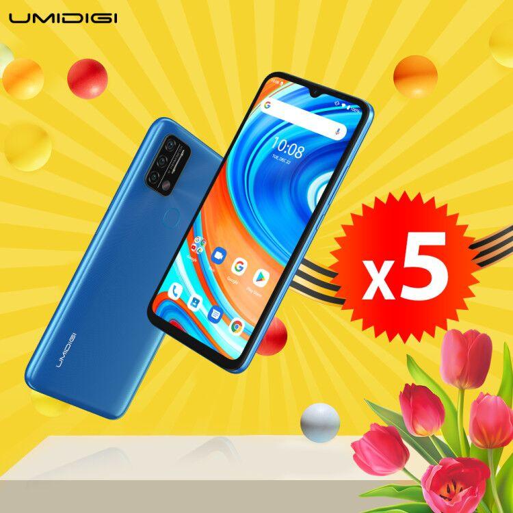 Win a 5x Umidigi A9 Smartphones Giveaway Image