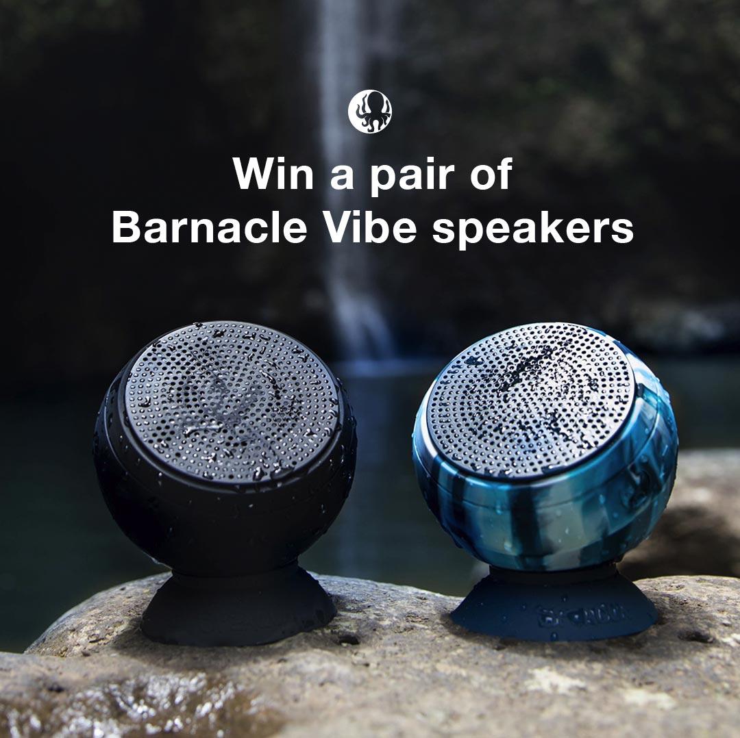 Win a pair of Barnacle Vibe Speakers - 2 winners Giveaway Image