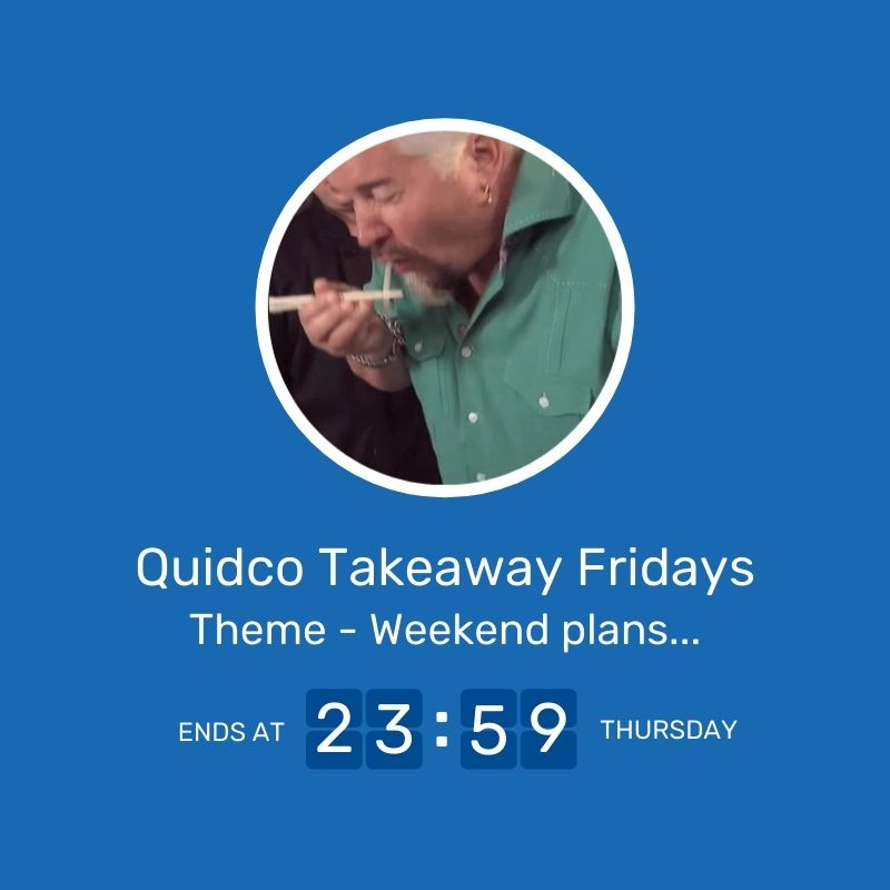 20 � ???? Quidco Takeaway Fridays ???? Giveaway Image