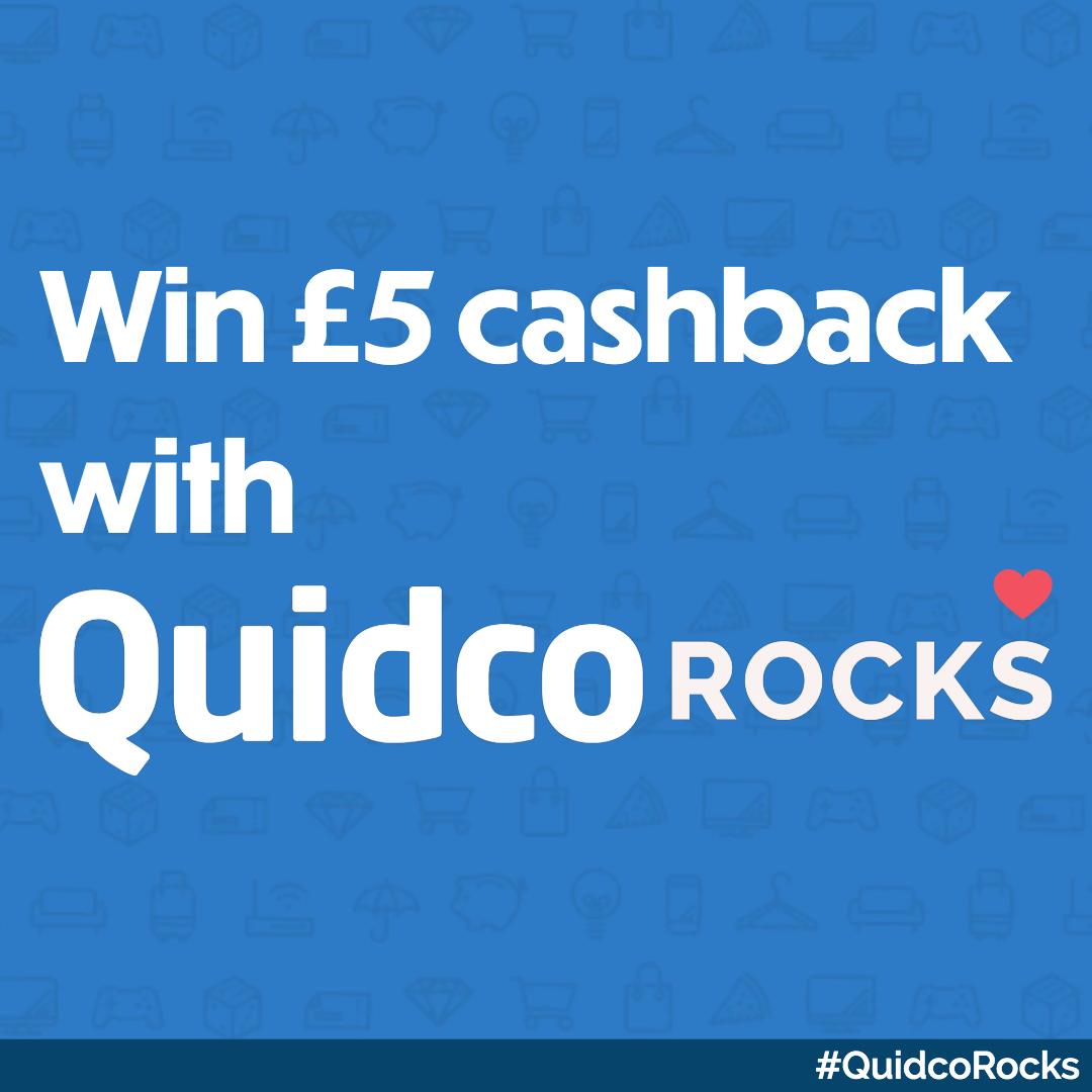 £5 Cashback For 50 Winners!