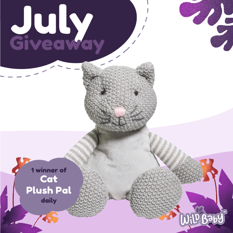 Enter to win a Wild Baby Plush Pal that is designed with a comfort pack to provide relaxing hot and cold therapy to your little ones. Giveaway Image