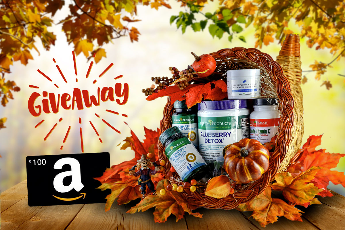 Giving Thanks Purity Giveaway - includes a $100 Amazon Gift Card! Giveaway Image
