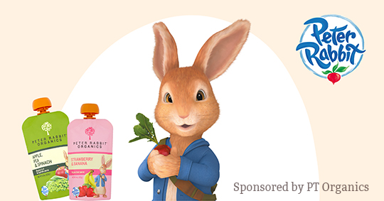 Win a YEAR of FREE Peter Rabbit Organics pouches - Winner will receive a shipment of pouches each month for 12 months totaling 365 pouches Giveaway Image