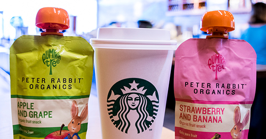 WIN a $50 Starbucks gift card & a case of Peter Rabbit Organics pouches!   (44 hours left) Giveaway Image