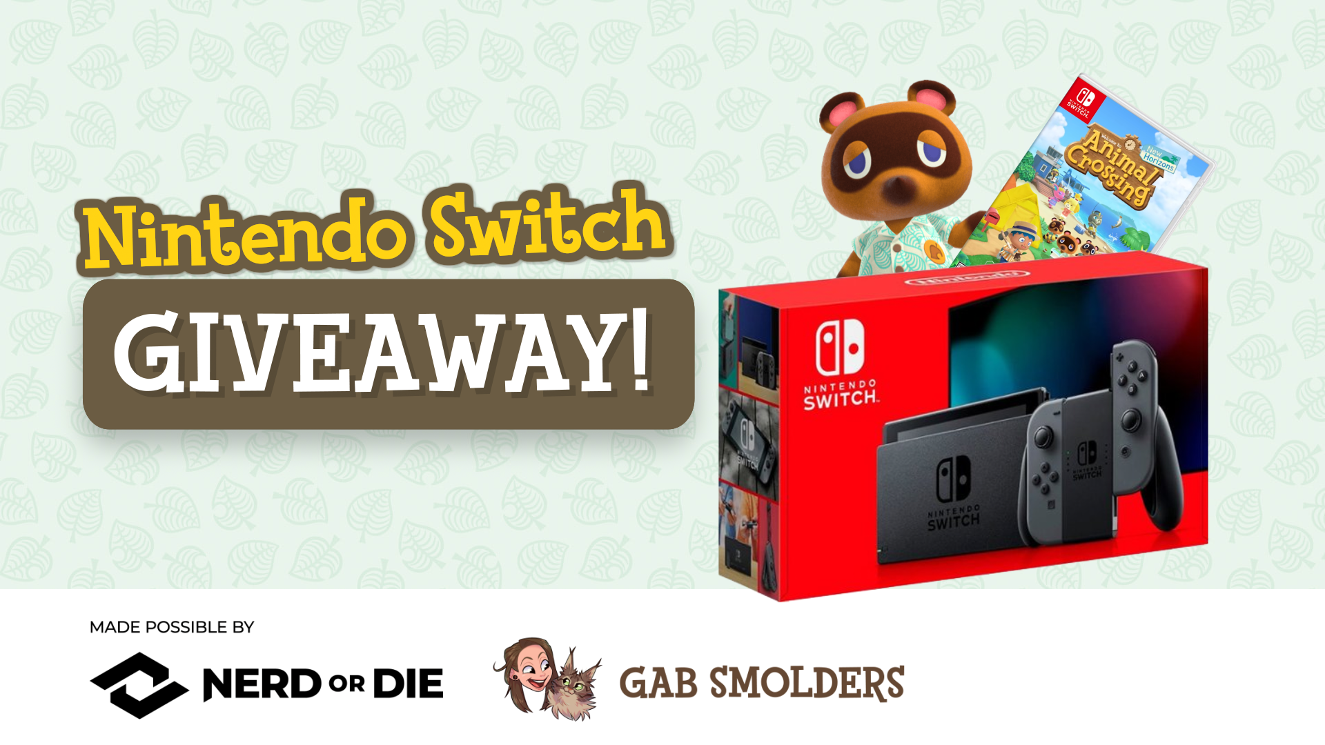 Win a Nintendo Switch with Animal Crossing Giveaway Giveaway Image