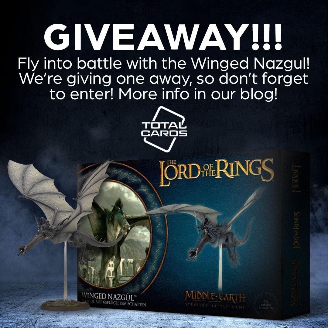 Enter to win a Lord of the Rings - Winged Nazgul Miniature. 31-Piece Kit. Giveaway Image