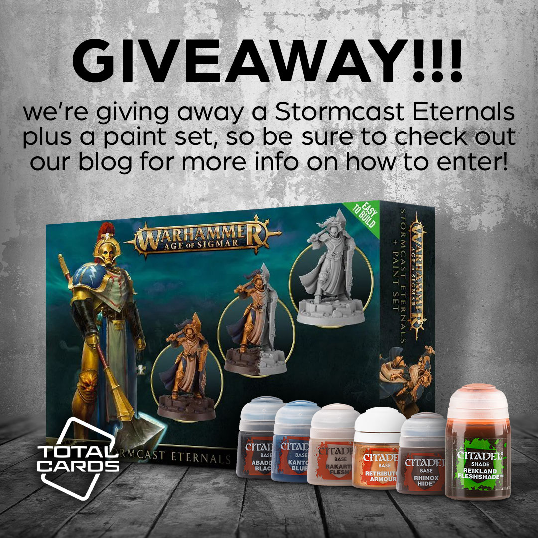 Enter to win Age of Sigmar - Stormcast Eternal Paint Set. Approximate retail value is $151. Giveaway Image