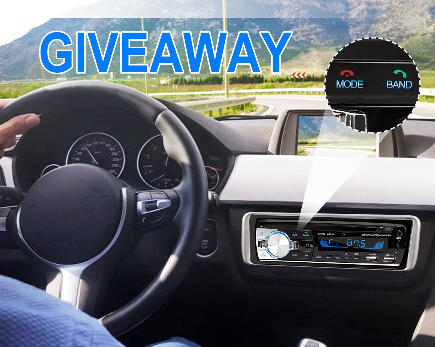 WIN A CAR RADIO Giveaway Image
