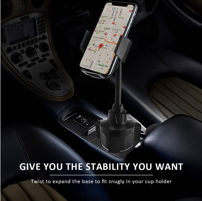 Enter to win a 2019 Upgraded Car Cup Holder Phone Mount. Compatible with most cell phones and smartphones. giveaway is aimed only at Amazon users Giveaway Image