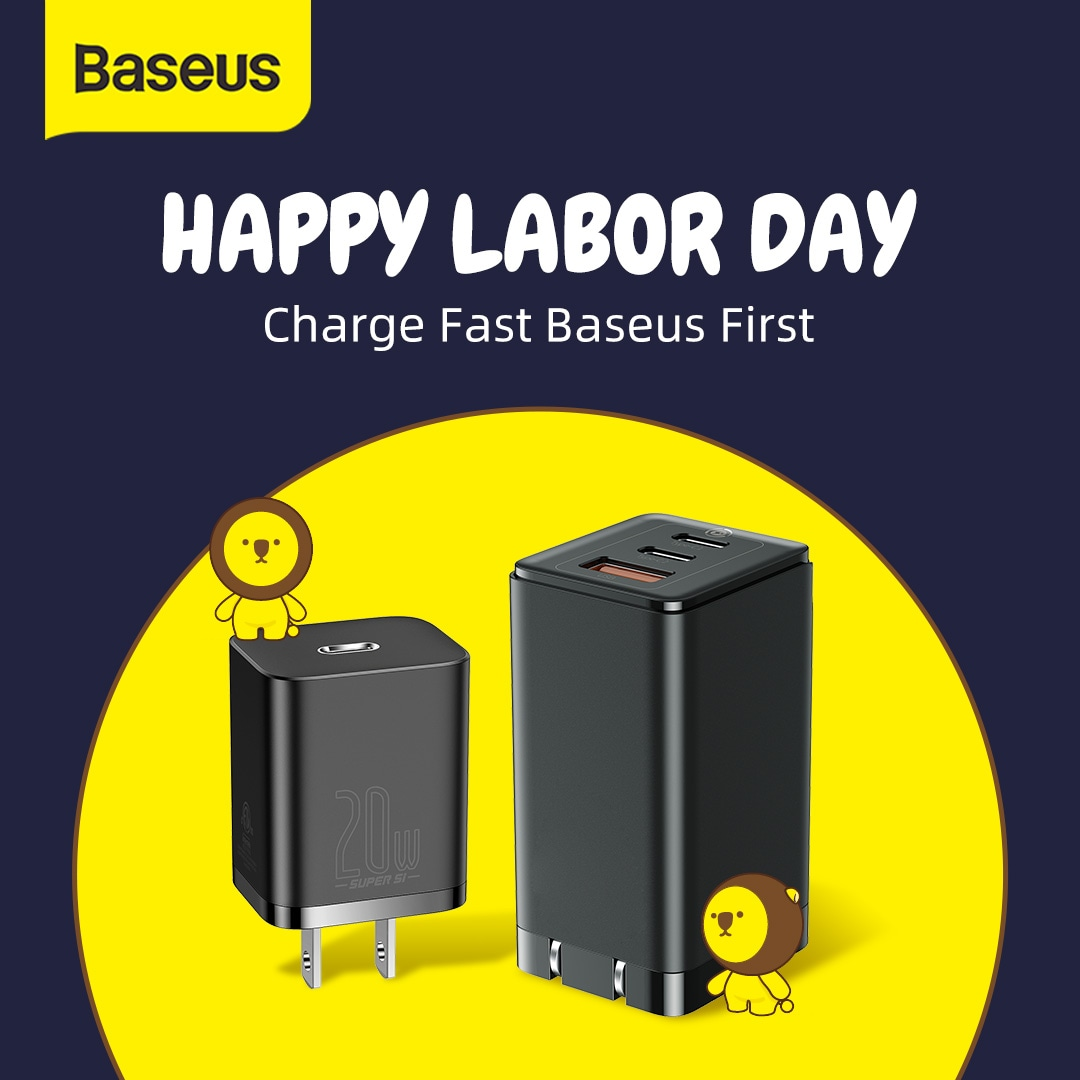 4 WINNERS Baseus 65W GaN2 Pro Fast Charge or Baseus 20W Super Si Fast Charge! Giveaway Image