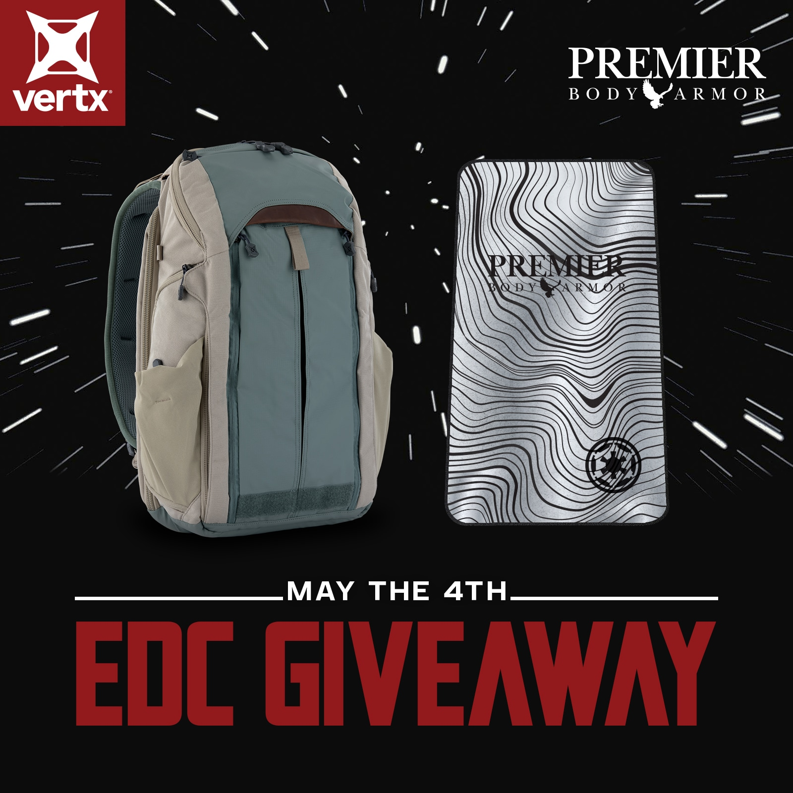 Vertx Backpack + Armor Plate - May the 4th EDC Giveaway Giveaway Image