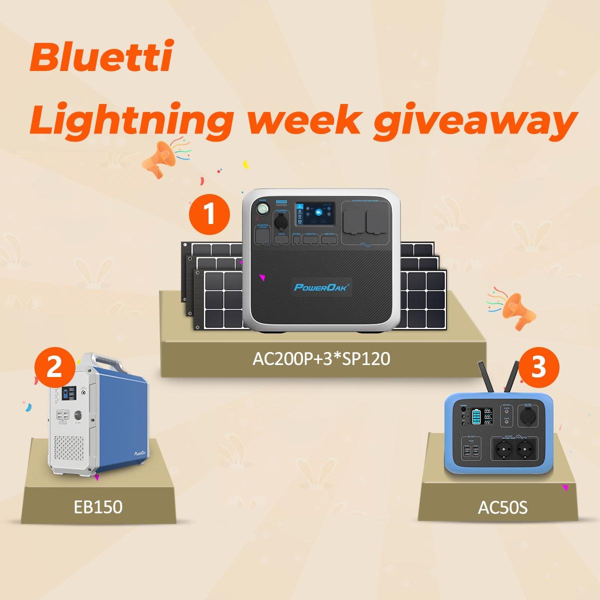 Bluetti Lightning Week Giveaway