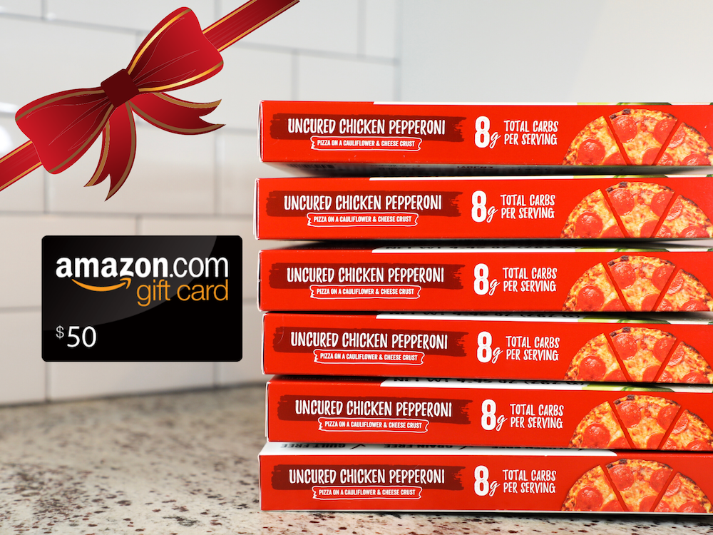 Win a $50 Amazon Gift Card & 6 ok Pepperoni Pizza Coupons Giveaway Image