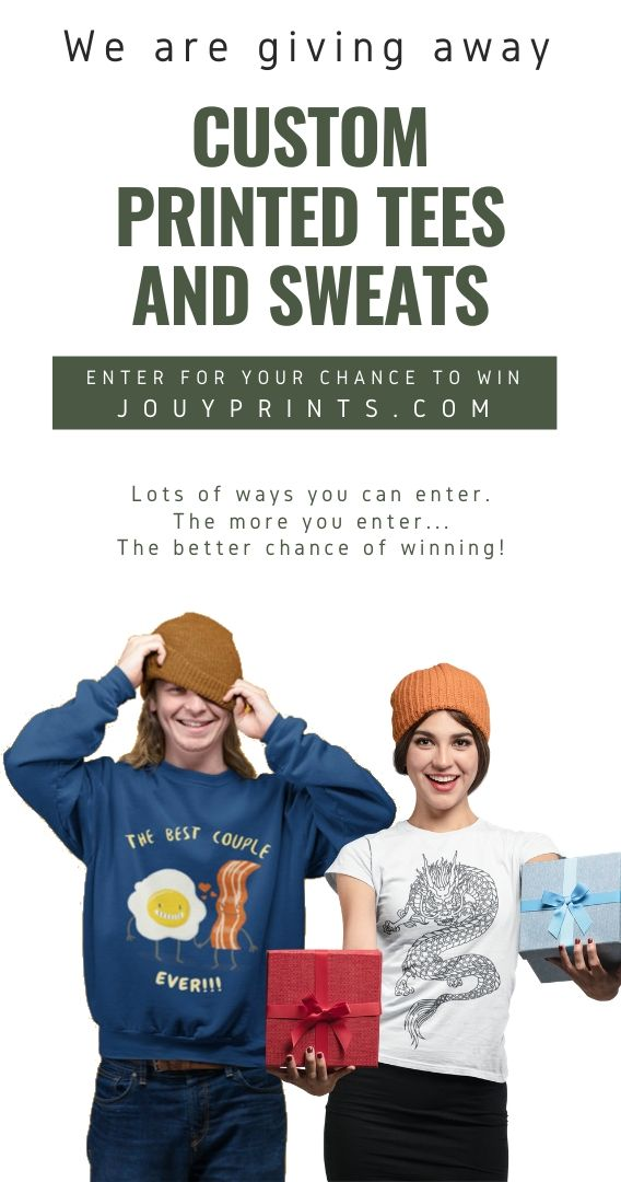 Custom Tees & Sweats Give-away Giveaway Image