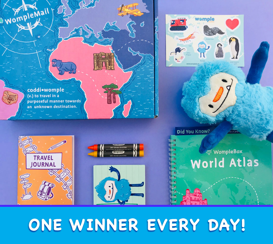 Womple Children's Explorer Subscription Box Giveaway Giveaway Image