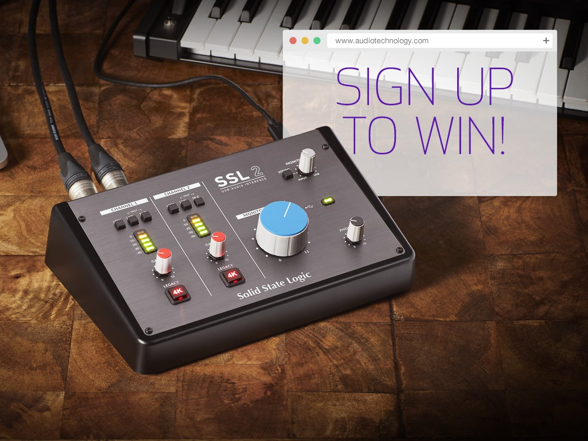 Enter to win a Solid State Logic SSL2 2x2 USB Audio Interface. 4 Winners! Retails at $230 each. Giveaway Image
