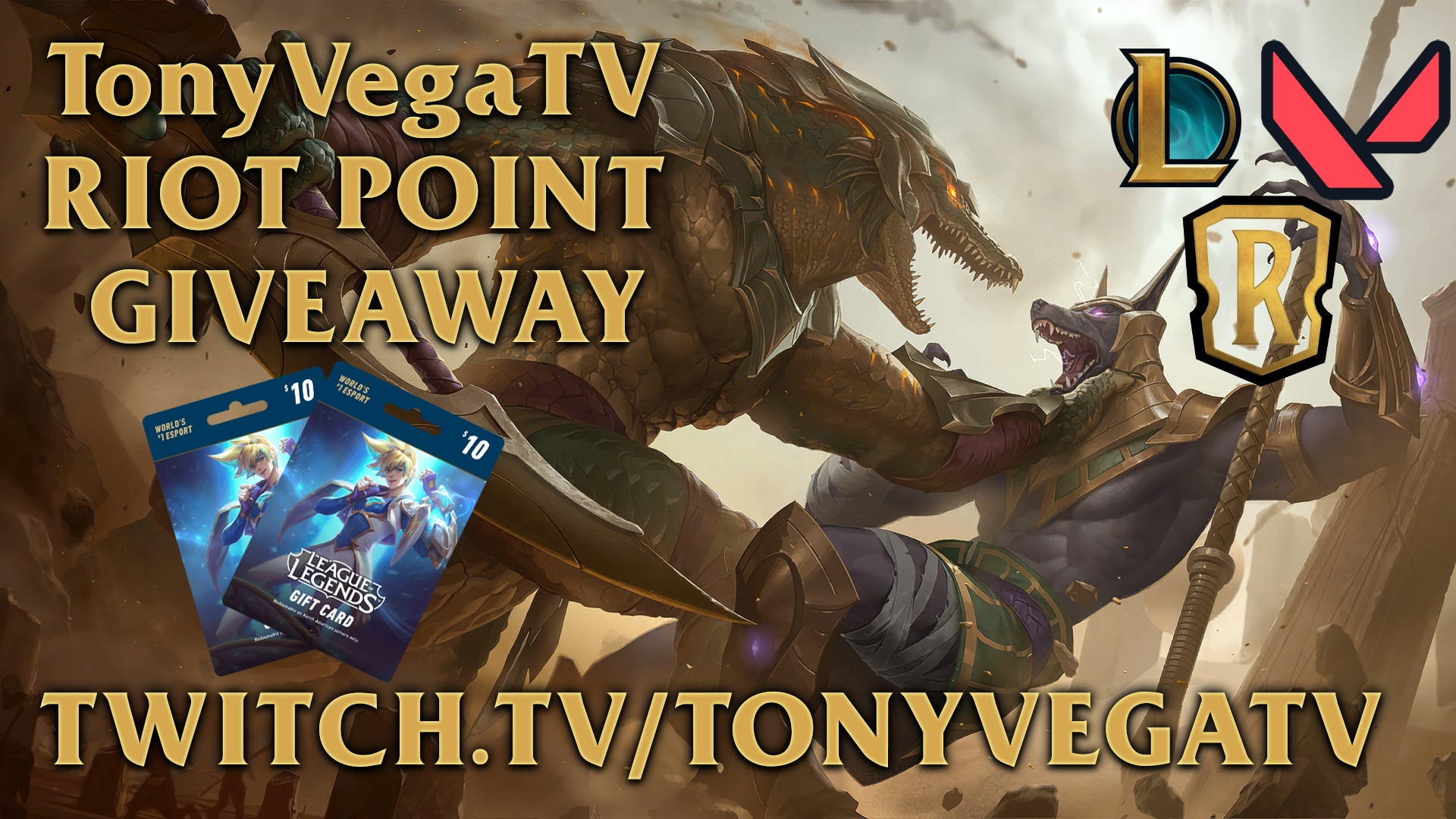 $20 worth of Riot Points  {03/04/2021} Giveaway Image