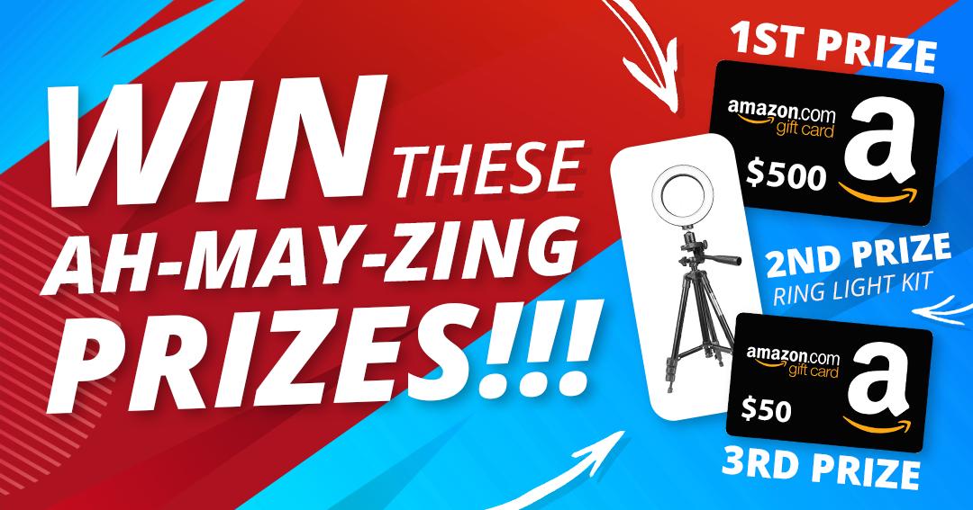 2 WINNERS: $500 Amazon Giftcard and $50 Amazon Giftcard + Ring Light Kit Giveaway Image