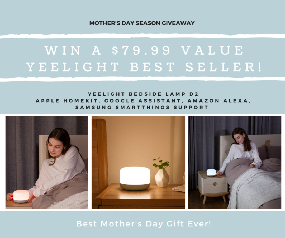 Free Giveaway: Win A $79.99 Value Smart Bedside Lamp Giveaway Image