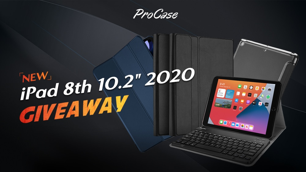 "online contests, sweepstakes and giveaways - Like us on social media to enter the ProCase Giveaway -  iPad 8th10.2"" 2020"