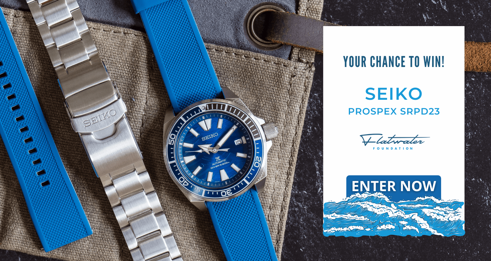 Seiko Watch + Flatwater Band Giveaway Giveaway Image