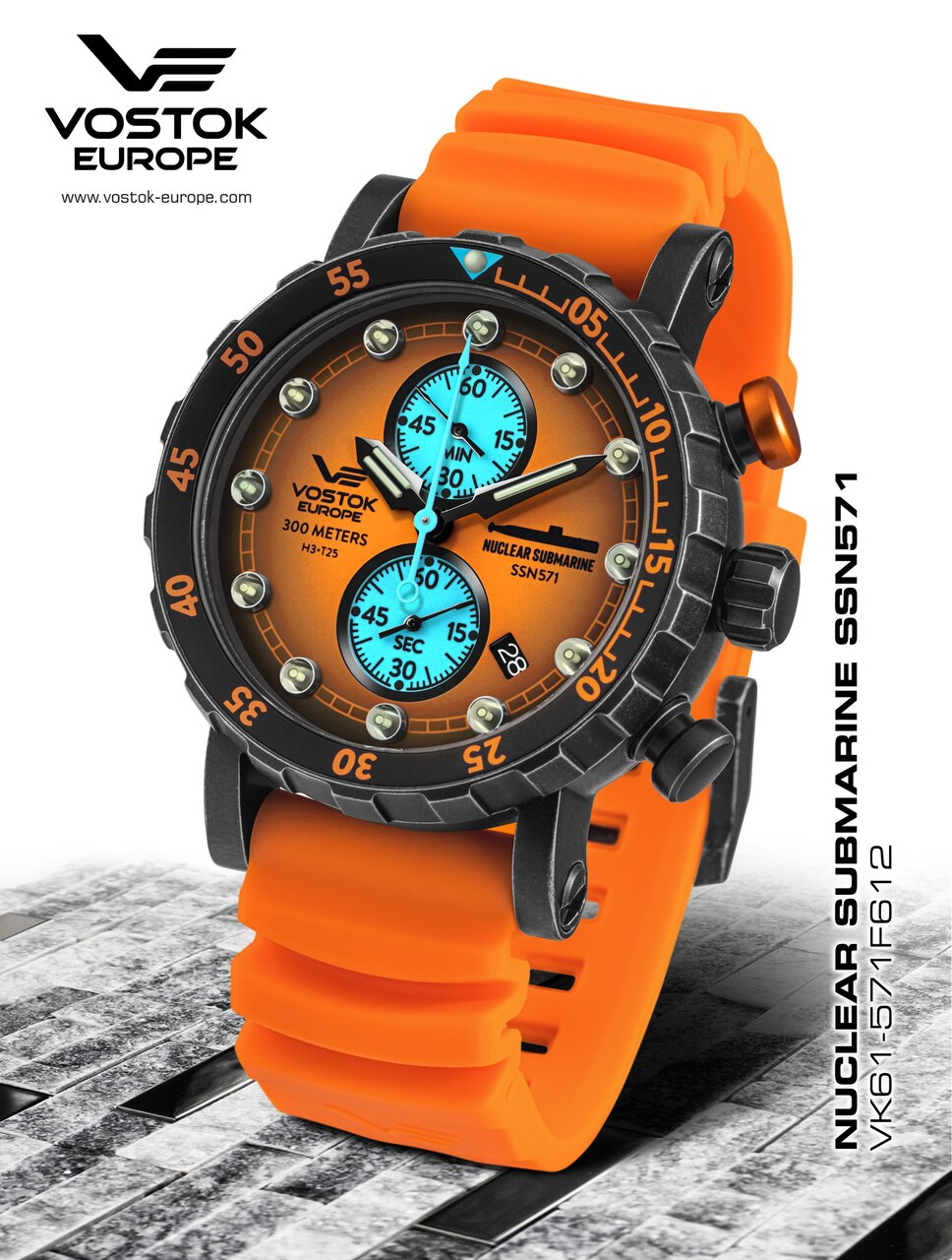 Vostok-Europe SSN-571 Mecha-Quartz Chronograph Submarine Watch Giveaway Giveaway Image