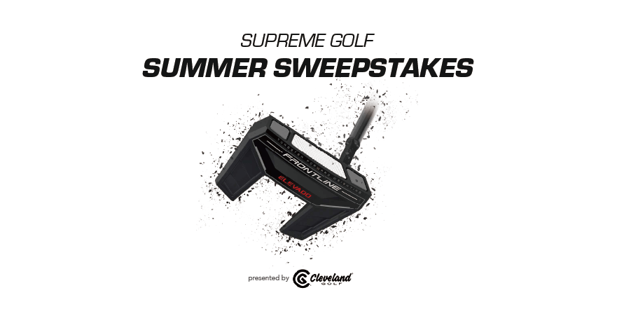 Enter to win the Cleveland Frontline Elevado Slant Neck Putter, worth $200. Five secondary winners will receive a dozen of the Srixon Z-Star golf balls, worth $50 per package. Giveaway Image