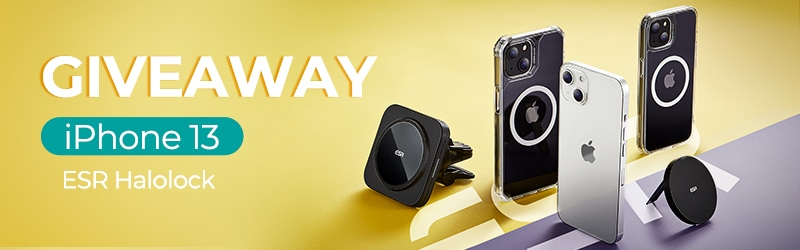 Win a iPhone 13 & ESR HaloLock Giveaway Giveaway Image